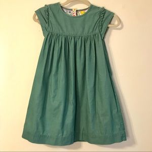 Mini Boden Green Corduroy Dress with Pockets 9-10Y
